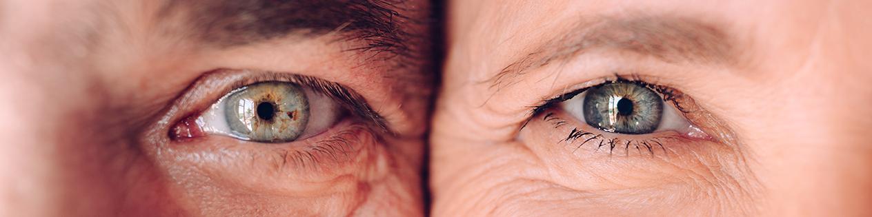 œil droit d'une femme et œil gauche d'un homme